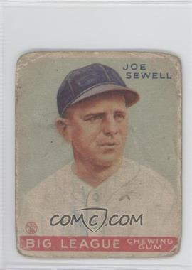 1933 Goudey Big League Chewing Gum - R319 #165 - Joe Sewell [Good to VG‑EX]
