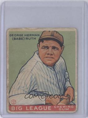 1933 Goudey Big League Chewing Gum - R319 #181 - Babe Ruth [Poor to Fair]