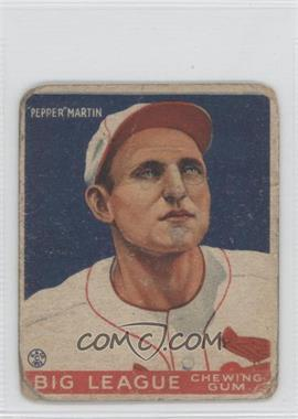 1933 Goudey Big League Chewing Gum - R319 #62 - Pepper Martin