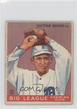 1933 Goudey Big League Chewing Gum R319 #15 - Vic Sorrell [GoodtoVG‑EX]