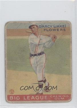 1933 Goudey Big League Chewing Gum R319 #151 - Jake Flowers [Good to VG‑EX]