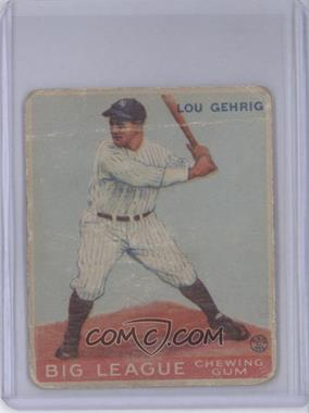 1933 Goudey Big League Chewing Gum R319 #160 - Lou Gehrig [Poor to Fair]