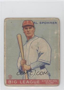 1933 Goudey Big League Chewing Gum R319 #161 - Al Spohrer