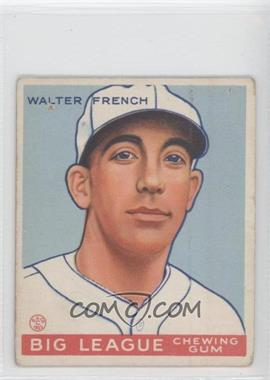 1933 Goudey Big League Chewing Gum R319 #177 - Walt French