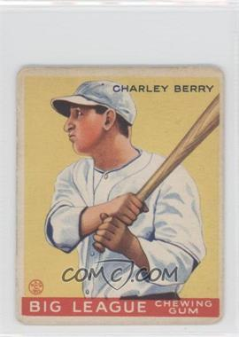1933 Goudey Big League Chewing Gum R319 #184 - Charley Berry [GoodtoVG‑EX]