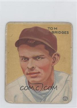 1933 Goudey Big League Chewing Gum R319 #199 - Tommy Bridges