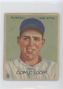 1933 Goudey Big League Chewing Gum R319 #215 - Russ Van Atta [Good to VG‑EX]