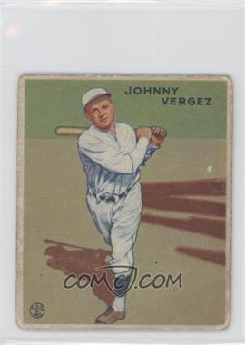 1933 Goudey Big League Chewing Gum R319 #233 - Johnny Vergez [GoodtoVG‑EX]