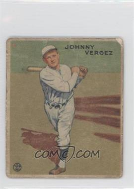 1933 Goudey Big League Chewing Gum R319 #233 - Johnny Vergez [Good to VG‑EX]