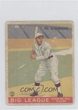 1933 Goudey Big League Chewing Gum R319 #35 - Al Simmons [Poor to Fair]