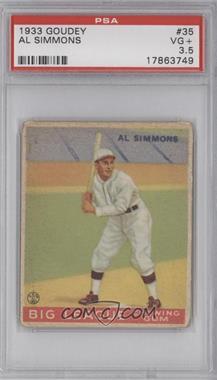 1933 Goudey Big League Chewing Gum R319 #35 - Al Simmons [PSA3.5]