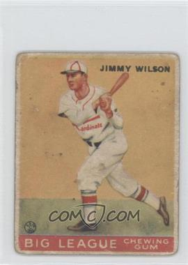 1933 Goudey Big League Chewing Gum R319 #37 - Jimmie Wilson