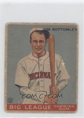 1933 Goudey Big League Chewing Gum R319 #44 - Jim Bottomley