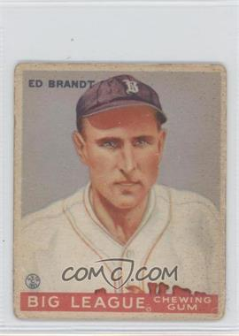 1933 Goudey Big League Chewing Gum R319 #50 - Ed Brandt [Good to VG‑EX]