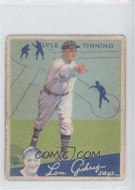 1934 Goudey Big League Chewing Gum - R320 #71 - Lyle Tinning