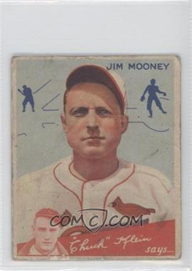 1934 Goudey Big League Chewing Gum R320 #83 - Jim Mooney [Good to VG‑EX]