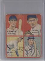Paul Waner, Guy Bush, Waite Hoyt, Lloyd Waner [Good to VG‑EX]