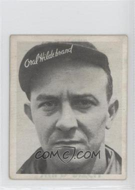 1936 Goudey R322 #ORHI.1 - Oral Hildebrand (strike/wild pitch) [Good to VG‑EX]