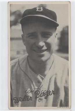 1936 Goudey Wide Pen Premiums R314 #N/A - Wally Berger