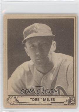 1940 Play Ball - [Base] #195 - Dee Miles