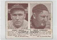 Jimmy Ripple, Ernie Lombardi [Good to VG‑EX]