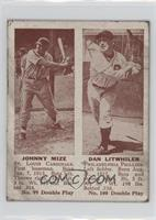 Johnny Mize, Dan Litwhiler [Poor to Fair]