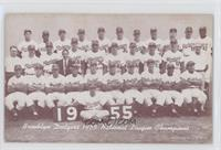 1955 Brooklyn Dodgers Team [Good to VG‑EX]