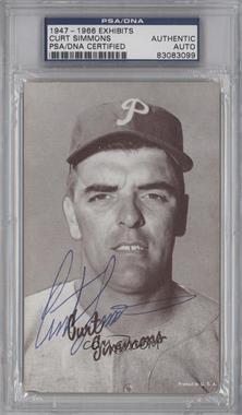1947-66 Exhibits W461 #CUSI - Curt Simmons [PSA/DNA Certified Auto]
