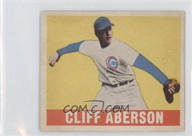 1948 Leaf - [Base] #136 - Cliff Aberson