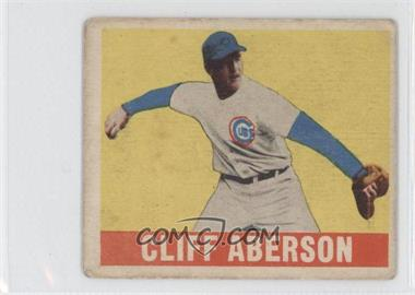 1948 Leaf - [Base] #136 - Cliff Aberson [Good to VG‑EX]