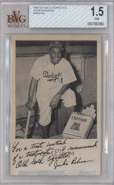 1948 Old Gold Cigarettes - [Base] #N/A - Jackie Robinson [BVG 1.5]
