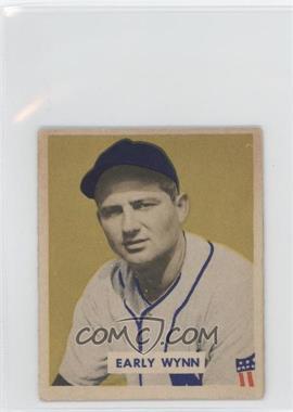 1949 Bowman - [Base] - Gray Backs #110 - Early Wynn