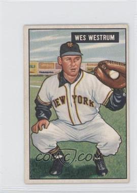 1951 Bowman - [Base] #161 - Wes Westrum