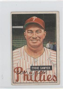1951 Bowman - [Base] #184 - Eddie Sawyer