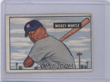 1951 Bowman - [Base] #253 - Mickey Mantle [Good to VG‑EX]