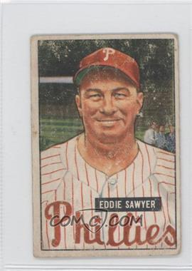 1951 Bowman #184 - Eddie Sawyer [Good to VG‑EX]
