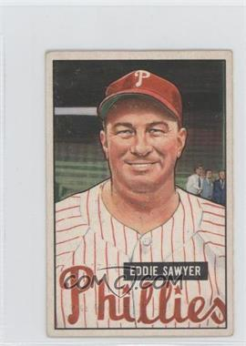 1951 Bowman #184 - Eddie Sawyer