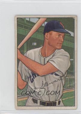 1952 Bowman - [Base] #185 - Ed Stewart [GoodtoVG‑EX]