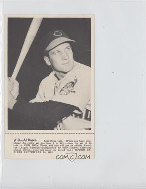 1952 Num Num Cleveland Indians - [Base] #10 - Al Rosen