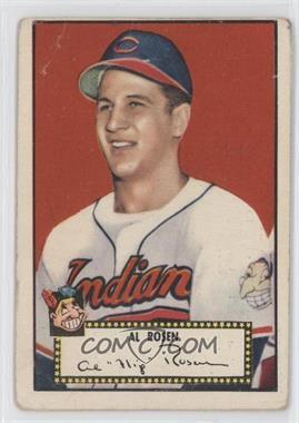 1952 Topps - [Base] #10.1 - Al Rosen (Red Back) [GoodtoVG‑EX]