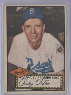 1952 Topps - [Base] #1.1 - Andy Pafko (Red Back) [GoodtoVG‑EX]