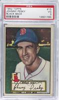 Johnny Pesky (Black Back) [PSA 3]