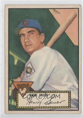 1952 Topps - [Base] #35.1 - Hank Sauer (Red Back)