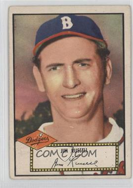 1952 Topps - [Base] #51.1 - Jim Russell (Red Back)