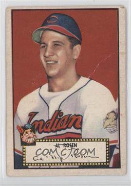 1952 Topps #10.1 - Al Rosen (Red Back) [GoodtoVG‑EX]