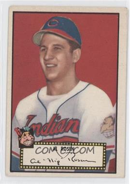 1952 Topps #10.2 - Al Rosen (Black Back)