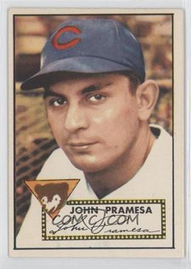 1952 Topps #105 - Johnny Pramesa