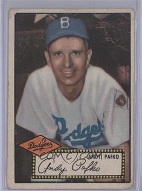 1952 Topps #1.2 - Andy Pafko (Black Back) [Poor to Fair]