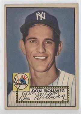 1952 Topps #128 - Don Bollweg
