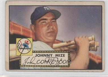 1952 Topps #129 - Johnny Mize [Good to VG‑EX]